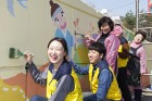 CJ오쇼핑, 지역 주민과 '우리 마을 벽화 그리기' 봉사