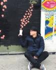 '메이즈 러너' 이기홍, 하트 쏟아지는 벽화 앞에서