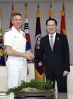 송영무 국방장관, 필 데이비슨 미국 인도태평양사령관과 면담