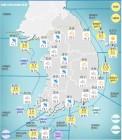 [오늘 날씨]전국 3080mm 비, 미세먼지 '보통'… 기온은?