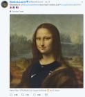 """프랑스 축구 유니폼 입은 모나리자에 이탈리아 '발끈',""""남의 그림 갖고…"""""""