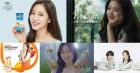 음료업계 광고모델 공식은 '건강美'…'상큼美' 앞세운 여자모델들