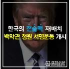 한국당, 미국 백악관 홈페이지에 '전술핵 재배치' 청원 서명운동 시작