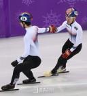 황대헌 은, 임효준 동메달... 남자 쇼트트랙 24년만의 500m 금메달 무산