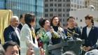"""美 샌프란시스코 도심에 위안부 기림비 세워져 """"역사적인 날"""""""