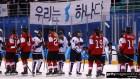 여자 아이스하키 단일팀, 스위스와 리턴매치에서 0:2 패배