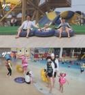 '아빠본색' 홍지민, 워터파크 나들이...30kg 감량 식단 공개