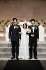 '두번 할까요?' 신부 이정현X신랑 권상우·이종혁, 이색 고사현장