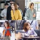 '슈츠' 채정안, 촬영장 밝히는 인간비타민 '자동 미소'