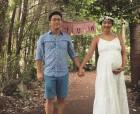 김빈우, 출산 앞두고 남편과 찍은 만삭 셀프사진 공개… '아름다운 D라인'