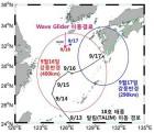 국내 최초 무인해상체계 이용해 태풍 '탈림' 중심권 관측 성공