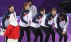 '올림픽 2연패' 쇼트트랙 여자 3000m 계주… '엉덩이 밀어주기' 세레모니도 눈길