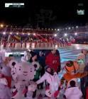 '평창올림픽 폐막식' 하트뿅뿅 수호랑 드론쇼-88서울 하계올림픽 호돌이 눈길