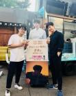 """""""휘발유 같은 배우""""… 준호, 김강현이 보낸 커피차 인증"""