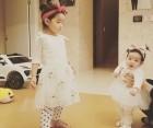 소이현, 딸 하은  소은 '왕리본 자매'의 달달한 근황 공개