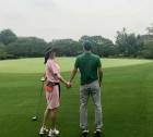 이혜영, 남편과 달달한 골프 데이트...까치발 부씨와