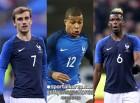 '초호화' 프랑스, 월드컵 23인 등번호...포그바 6번-음바페 10번