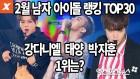 [엑's 영상] 워너원 강다니엘, 남자 아이돌 랭킹 1위…태양·박지훈·지드래곤 순(2월 빅데이터 분석)