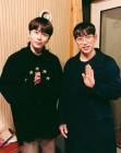 '특급 컬래버' 용준형X십센치, 녹음실 투샷 공개 '기대감도 UP'