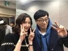 이수경, '해피투게더' 촬영 인증… 수줍은 'V'