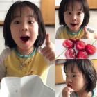 """""""엄마 최고예요""""…'유진 딸' 로희, 체리에 반하다"""