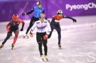 [머니S포토] 남자 쇼트트랙 500m 예선 임효준 '여유로운 레이스'