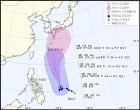 태풍 '란' 日향해 북상…간접영향에 주말 비·고온현상