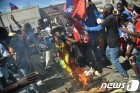 [사진] 아이티인들의 반미, 반 트럼프 시위