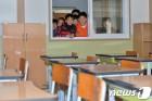 지진으로 폐쇄됐던 포항 흥해초교에 컨테이너 교실