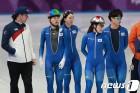 밥데용 코치와 훈련하는 스피드 스케이팅 대표팀