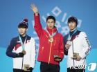 文대통령, 쇼트트랙 銀 황대헌·銅 임효준 선수에 축전