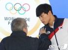 [올림픽] 윤성빈, 아시아 대표로 폐막식 참석…바흐 IOC 위원장 요청