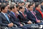 경북지사 한국당 후보 4명, 지역별 지지도 차이 뚜렷