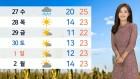 [날씨] 내일도 30도 안팎 늦더위…모레 가을비
