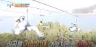 [1박2일] 973m를 1분 만에 도착하는 위엄 차태현-김준호-윤시윤, 짚라인 도전