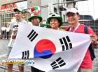 '한국 대표팀 로스토프 도착 반기는 멕시코팬'