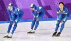 둘로 갈라진 여자 팀 추월… 박수ㆍ함성도 쪼개졌다