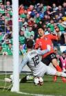 한국 축구, 'vs스웨덴 모의고사' 북아일랜드에 아쉬운 역전패