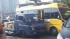 군산서 통학버스-화물차 충돌 10명 부상