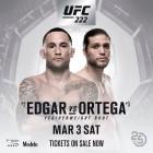 [오피셜] 에드가 vs 오르테가 UFC 222에서…사이보그 2차 방어전