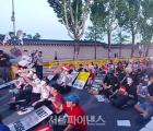 """아시아나·대한항공 직원들 첫 연대 집회···""""박삼구·조양호 물러나라"""""""