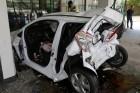 죽전휴게소 주차장서 SUV 경차 추돌 사고…4명 부상