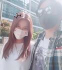 """정시아♥백도빈, 마스크로 얼굴 가린 잉꼬부부 """"미세먼지"""""""