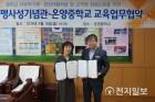 고불맹사성기념관-온양중학교, 교육 업무협약