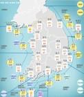 [기상특보]기상청, 오늘날씨 및 주말`주간날씨 예보!..서울, 부산, 대구 등 미세먼지 '나쁨'