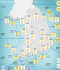 [기상특보]기상청 내일날씨 및 주말주간날씨 예보..서울, 부산, 대구,광주 등 미세먼지 나쁨..일요일 전국 비