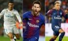 FIFA 올해의 선수상 '호날두·메시·네이마르' 3파전 압축… 올해도 호날두?