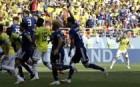 후안 퀸테로, 프리킥 동점골 … 1-1 전반 종료