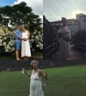 김빈우, 훈남 남편과 제주도 셀프 만삭 사진 공개 '아름다운 D라인'