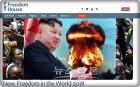 프리덤 하우스, '김정은 핵개발 이유, 범죄정권 강화 목적'